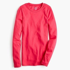 Slim perfect long-sleeve T-shirt in Pinky Red. SzL